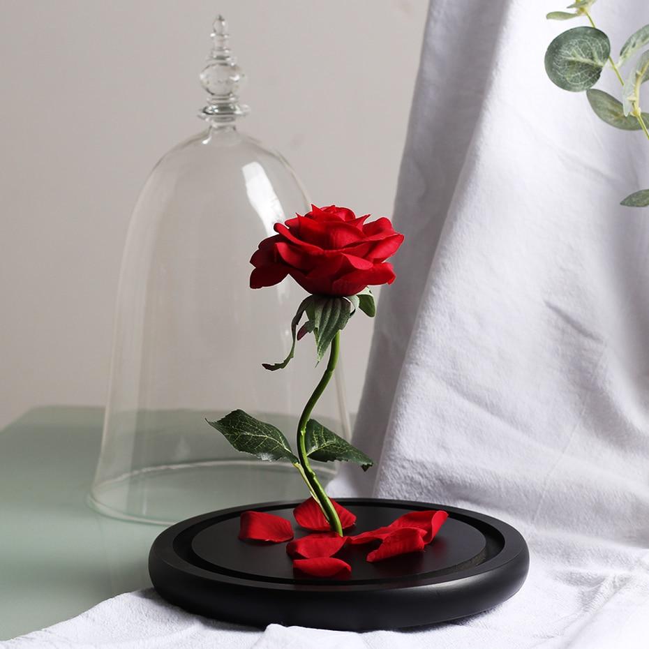 Grande Rose Éternelle sous Cloche