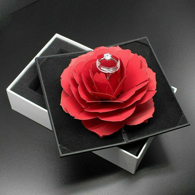 Boîte Cadeau Rose Bague