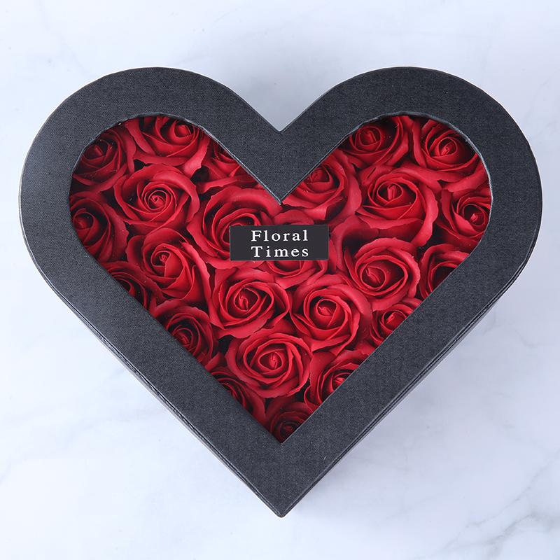 Boîte Coeur Roses Éternelles