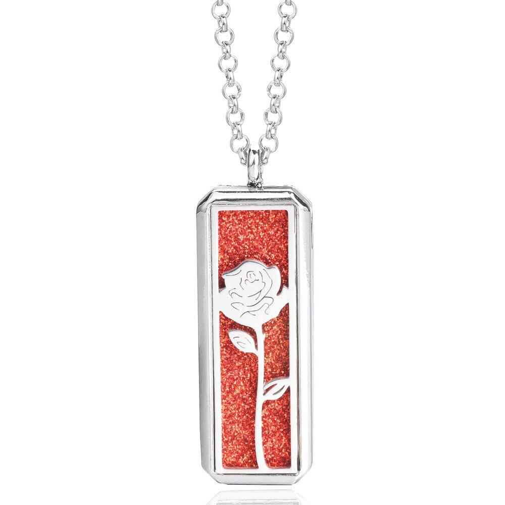 Collier Rose Fleur Diffuseur de Parfum