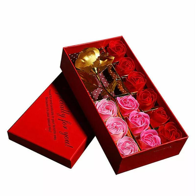 Coffret Rose Dorée & Roses Éternelles