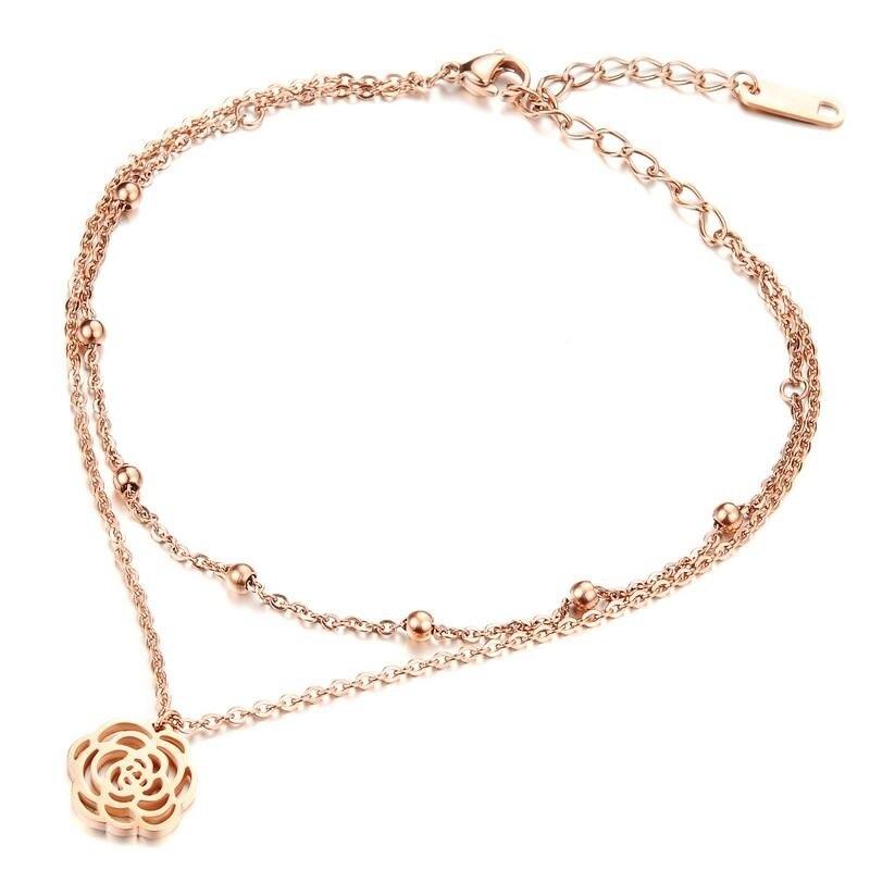 Bracelet de Cheville Fleur tombante Or