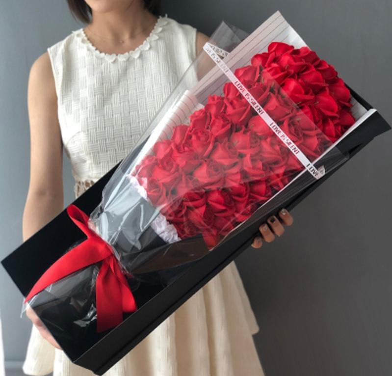 Bouquet Rose Éternelle Rouge Géant