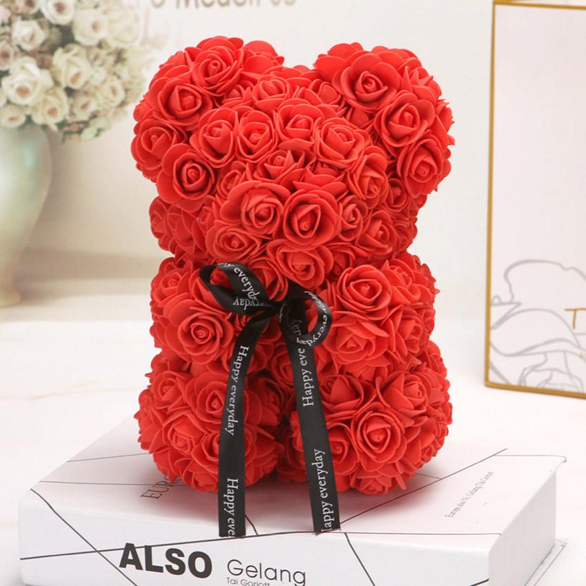 Ours en Rose Fleur Éternelle