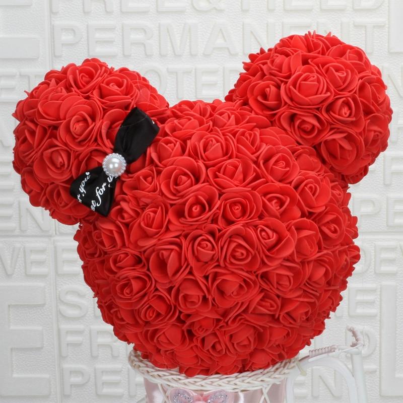 Rose_artificielles_nounours_rose_rouge