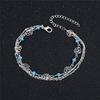 Argent-925-cheville-pour-femmes-Rose-fleur-cheville-Bracelets-t-plage-perles-cheville-voyage-Souvenir
