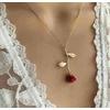Cadeau-de-no-l-nouveaux-bijoux-cr-atif-goutte-d-licate-rouge-Rose-pendentif-collier-pour