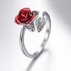 bague-fleur-rose-argent
