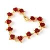 Rouge-Rose-Bracelet-fleurs-poignet-cha-ne-breloque-saint-valentin-cadeau-pour-les-femmes-f-te