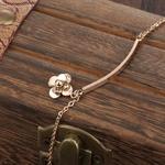 bracelet_de_cheville_rose_fleur_or_simple