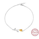 bracelet_de_cheville_rose_fleur_plaqué_or