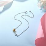 bracelet_de_cheville_rose_fleur_argent_massif