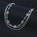 bracelet_de_cheville_rose_fleur_argent_cadeau