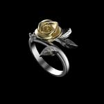 bague_rose_fleur_or_argent