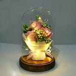 Bouquet_rose_eternelle_sous_cloche_rose_LED