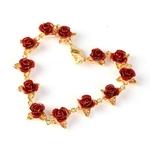 bracelet-12-fleur-rose-argent-or