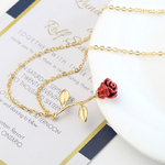 Collier_Rose_Fleur_pointe_rouge_or