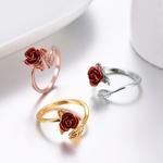 Bague-fleur-rose-or
