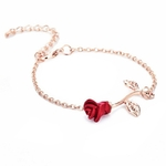 Bracelet_Fleur_Rouge_rose