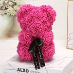 Ours_en_fleur_25cm_rose