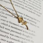925-Sterling-argent-Rose-fleur-colliers-et-pendentifs-pour-les-femmes-couleur-or-l-gant-dame
