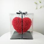 30x30cm-rouge-Rose-ours-doux-coeur-Rose-fleur-artificielle-Rose-coeur-d-coration-saint-valentin-cadeau