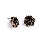 boucles_d_oreilles_fleur_rose_noire_or