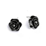 boucles_d_oreilles_fleur_rose_noire