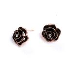 boucles_d_oreilles_fleur_rose_noire_rose