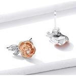 Boucles_d_oreilles_fleur_rose_argent_diamant