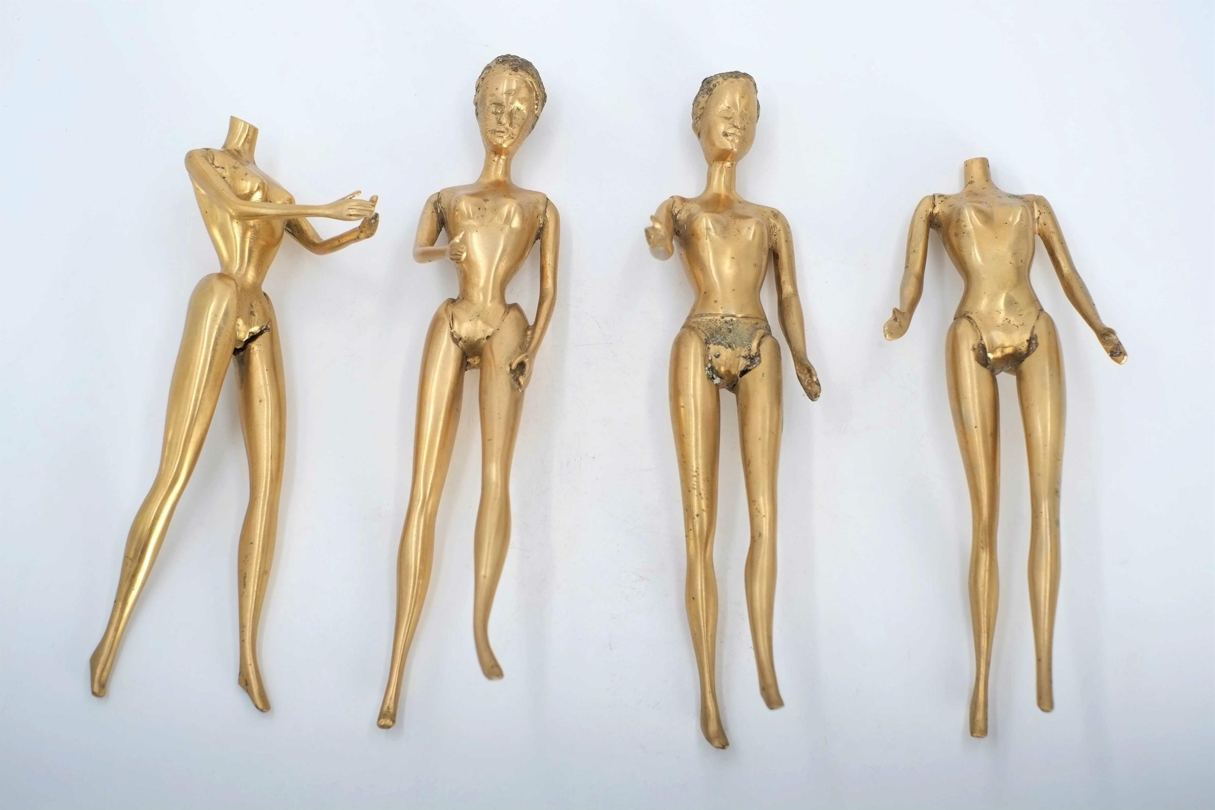 Statuette en bronze de poupée mannequin du Burkina Faso
