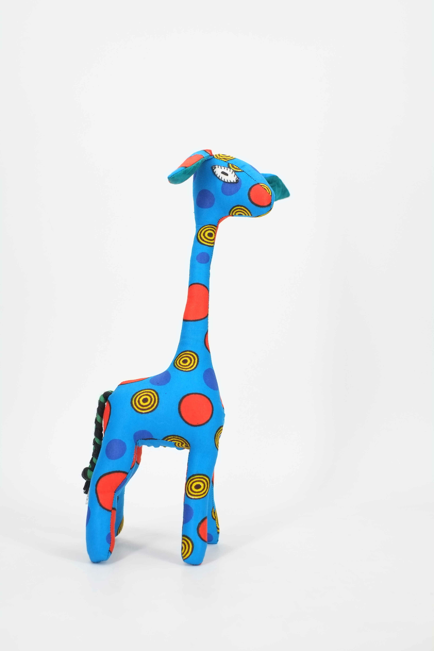 Girafe décorative en wax du Sénégal