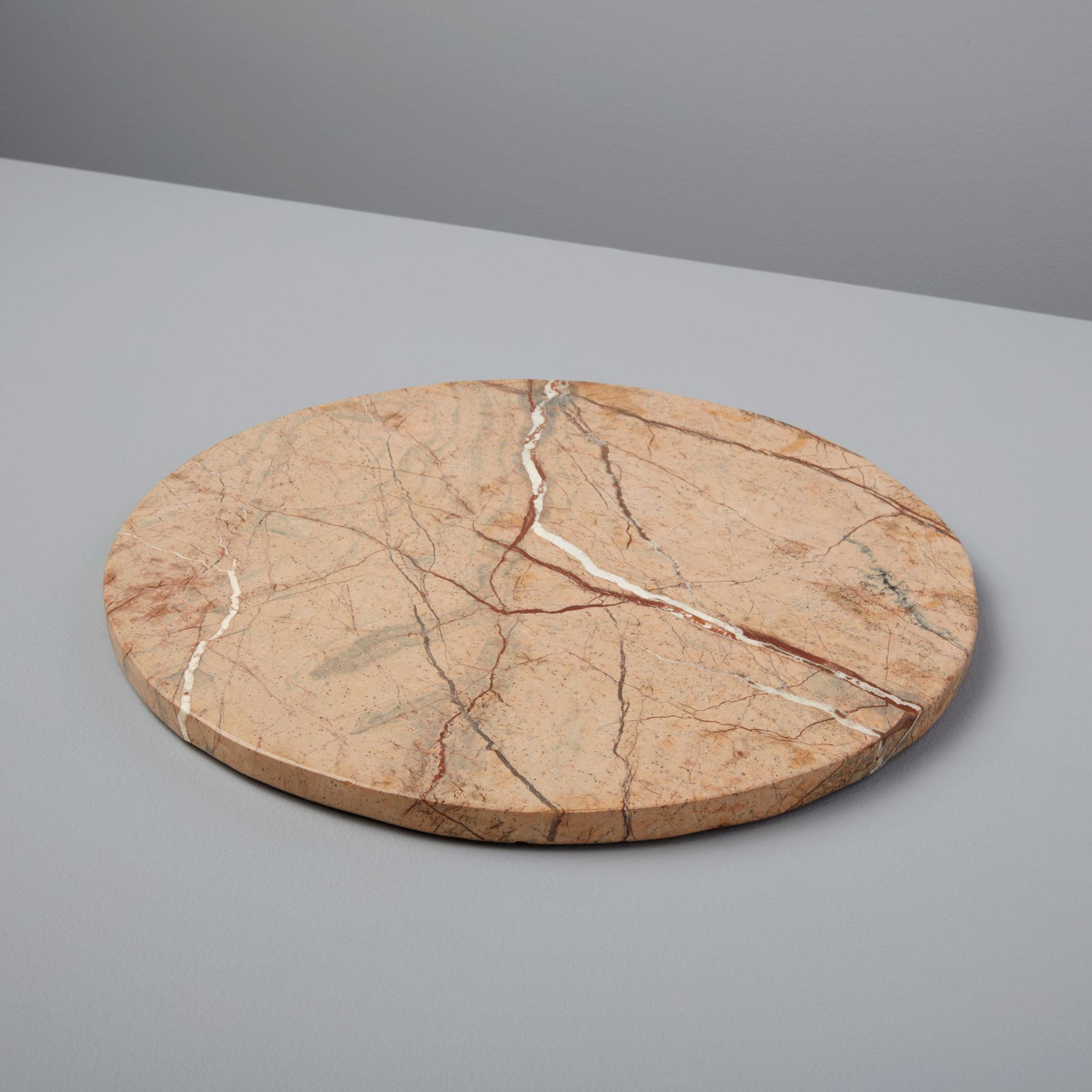 Dessous de plat circulaire en pierre marble forestd\'Inde