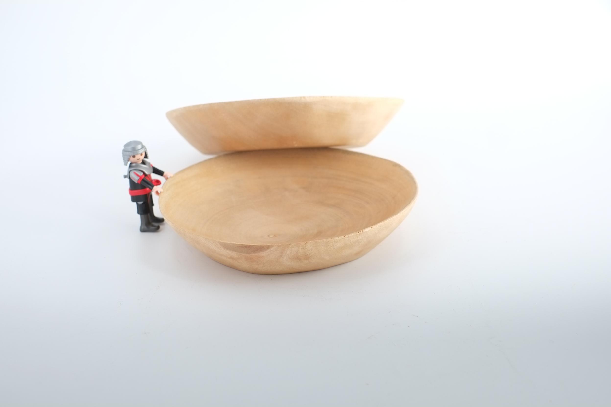 Petite assiette en bois de manguier récupéré de Thailande