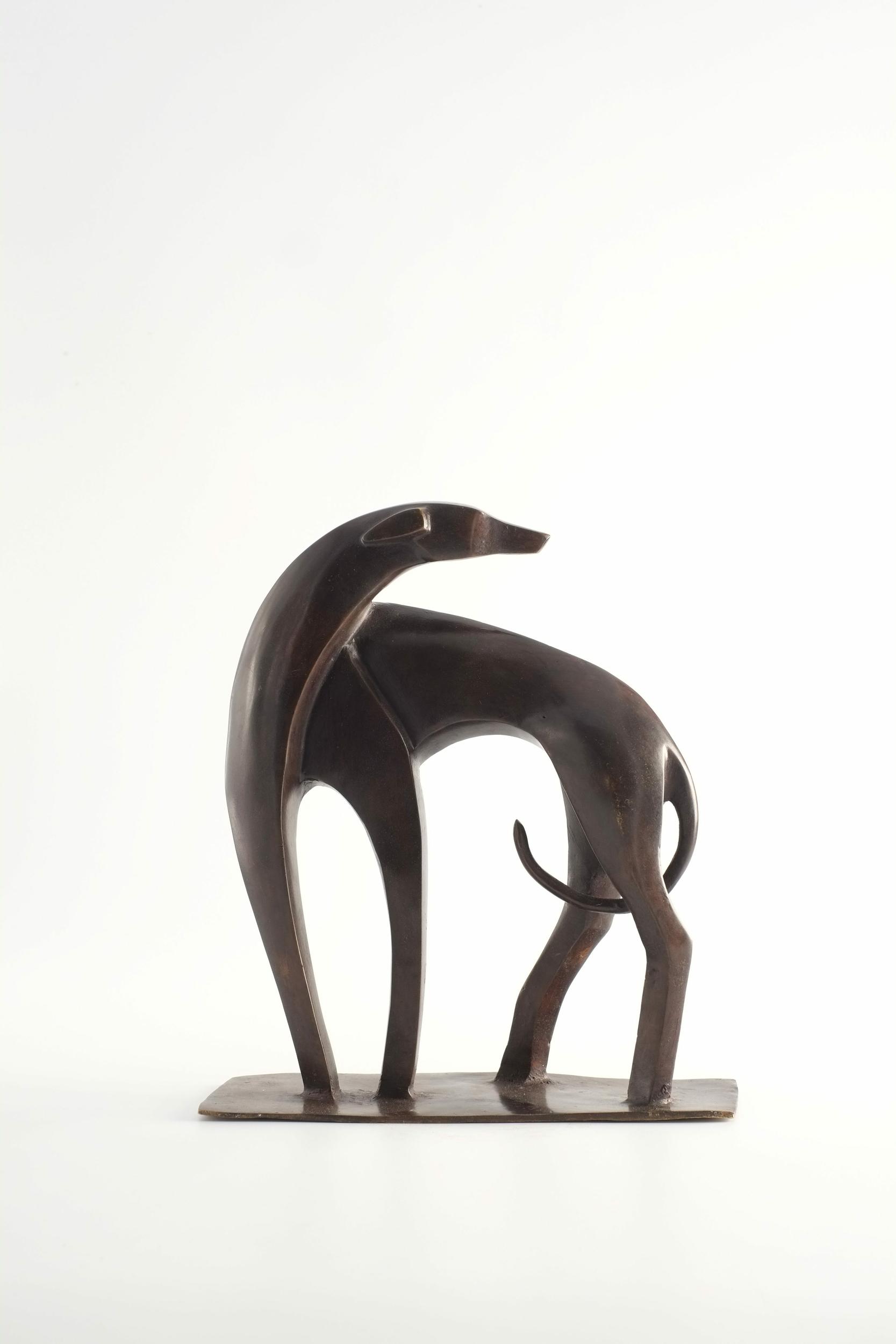 Chien stylisé en bronze du Burkina Faso