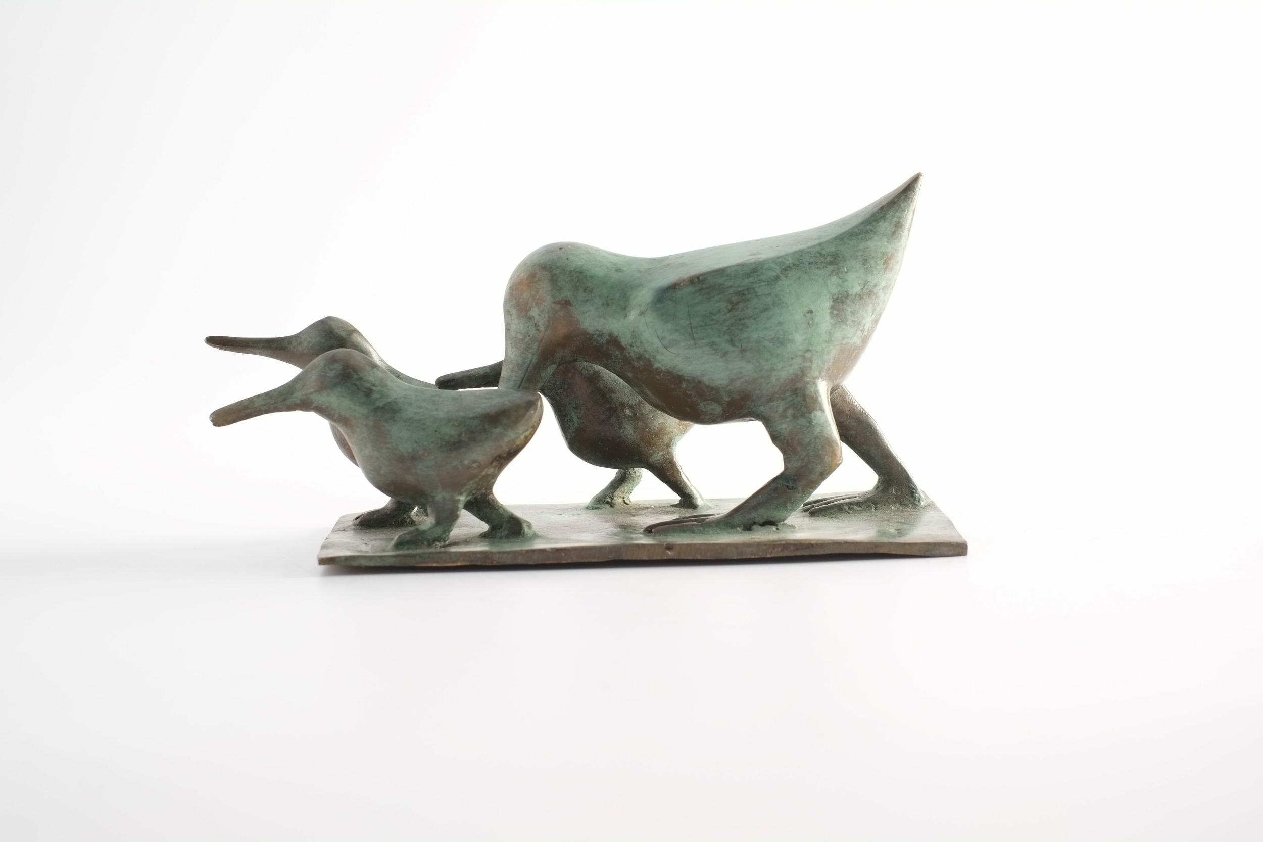 Oiseaux stylisés en bronze du Burkina Faso