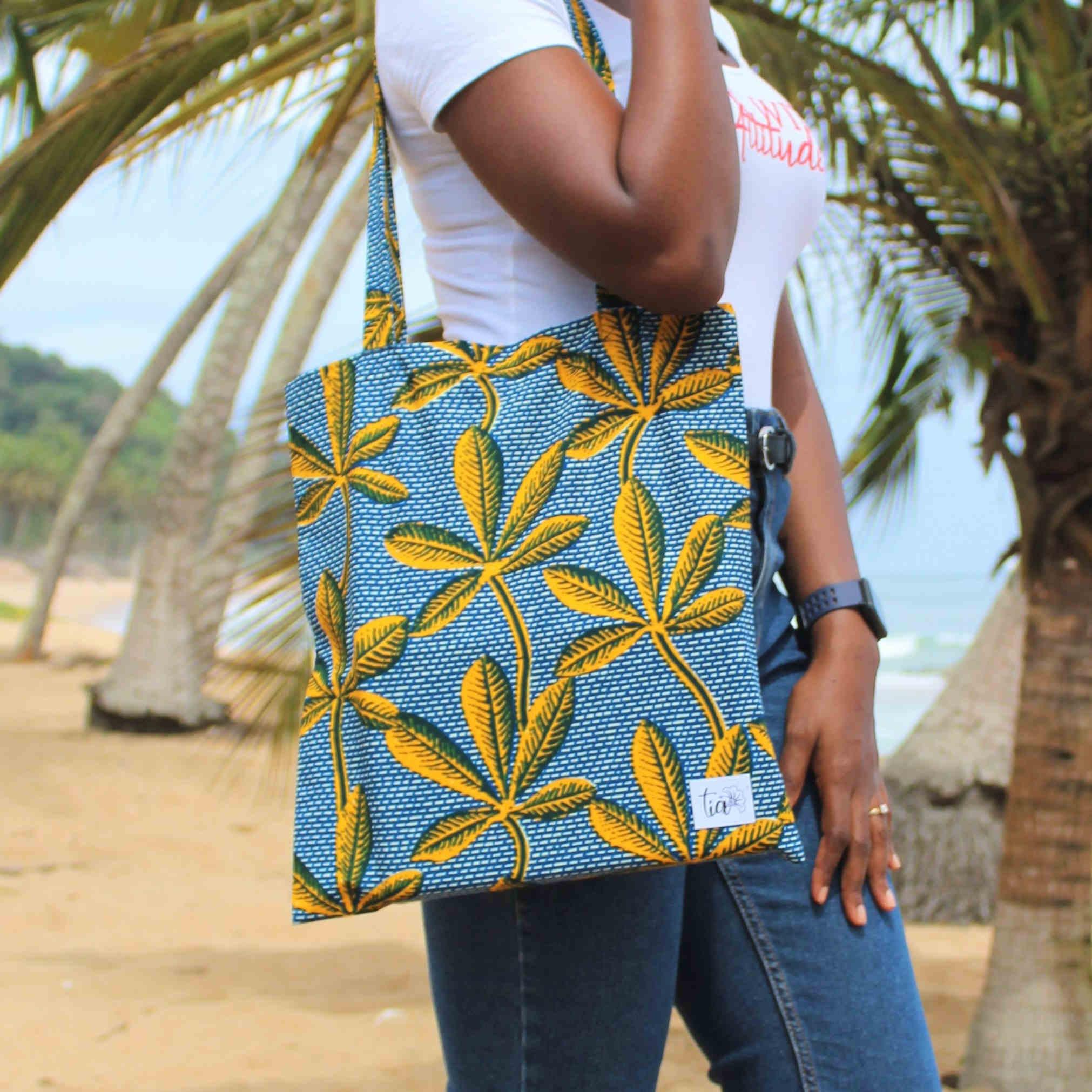 Tote bag en wax de Cote d\'Ivoire