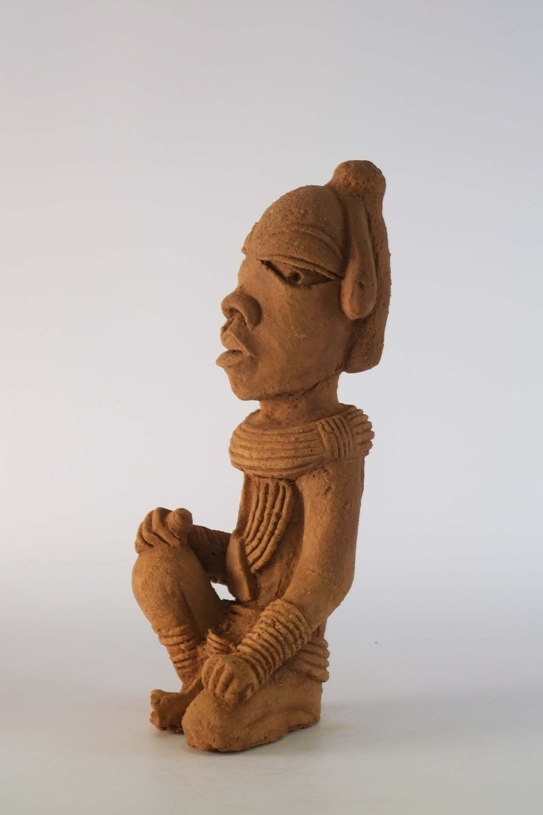 Statue en terre cuite Nok accroupi