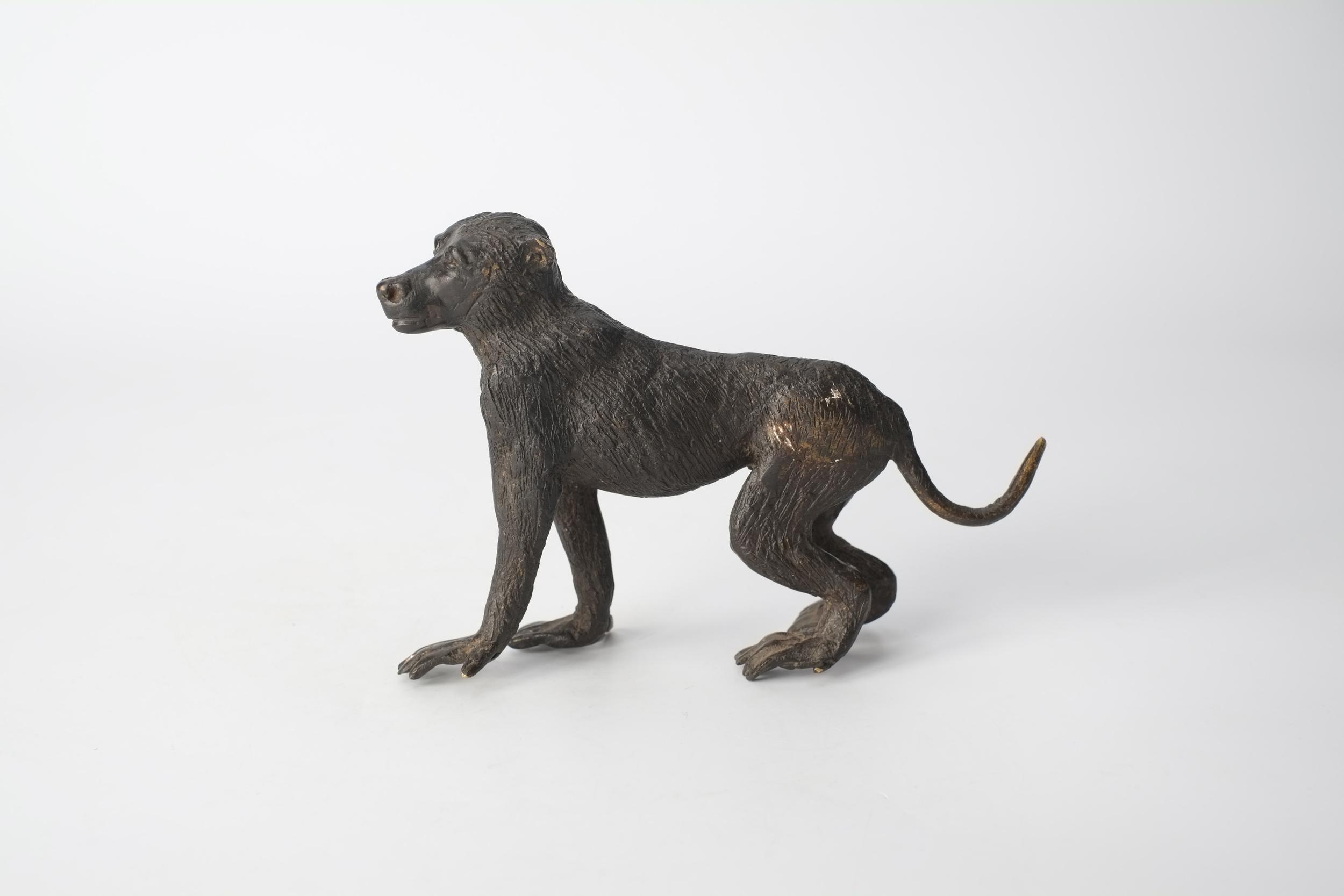 Babouin en bronze du BurKina Faso
