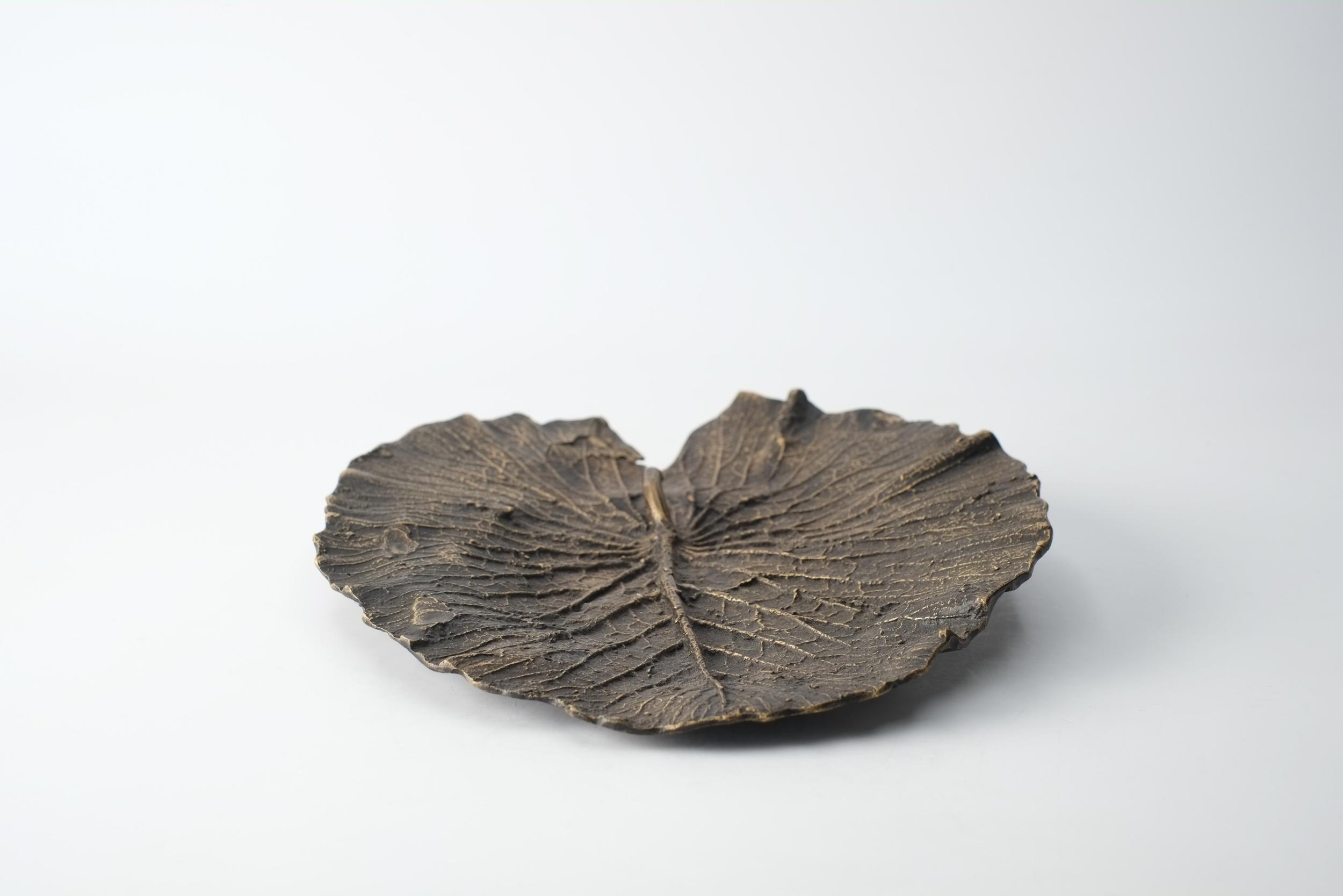 Vide poche feuille en bronze du Burkina Faso