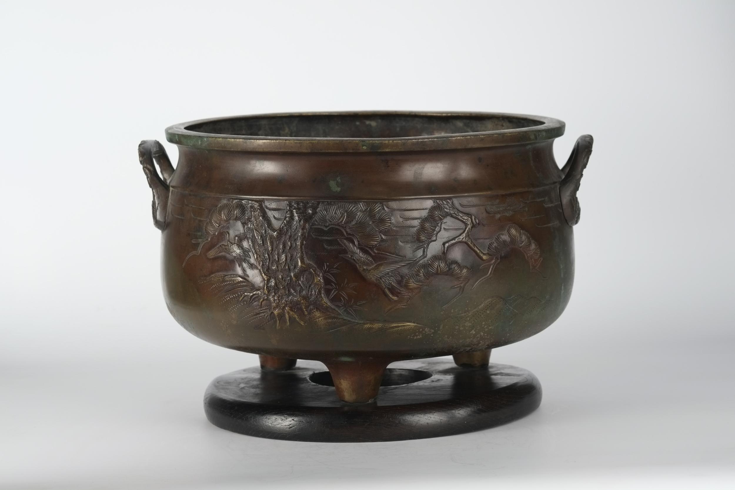 Hibashi en bronze du Japon