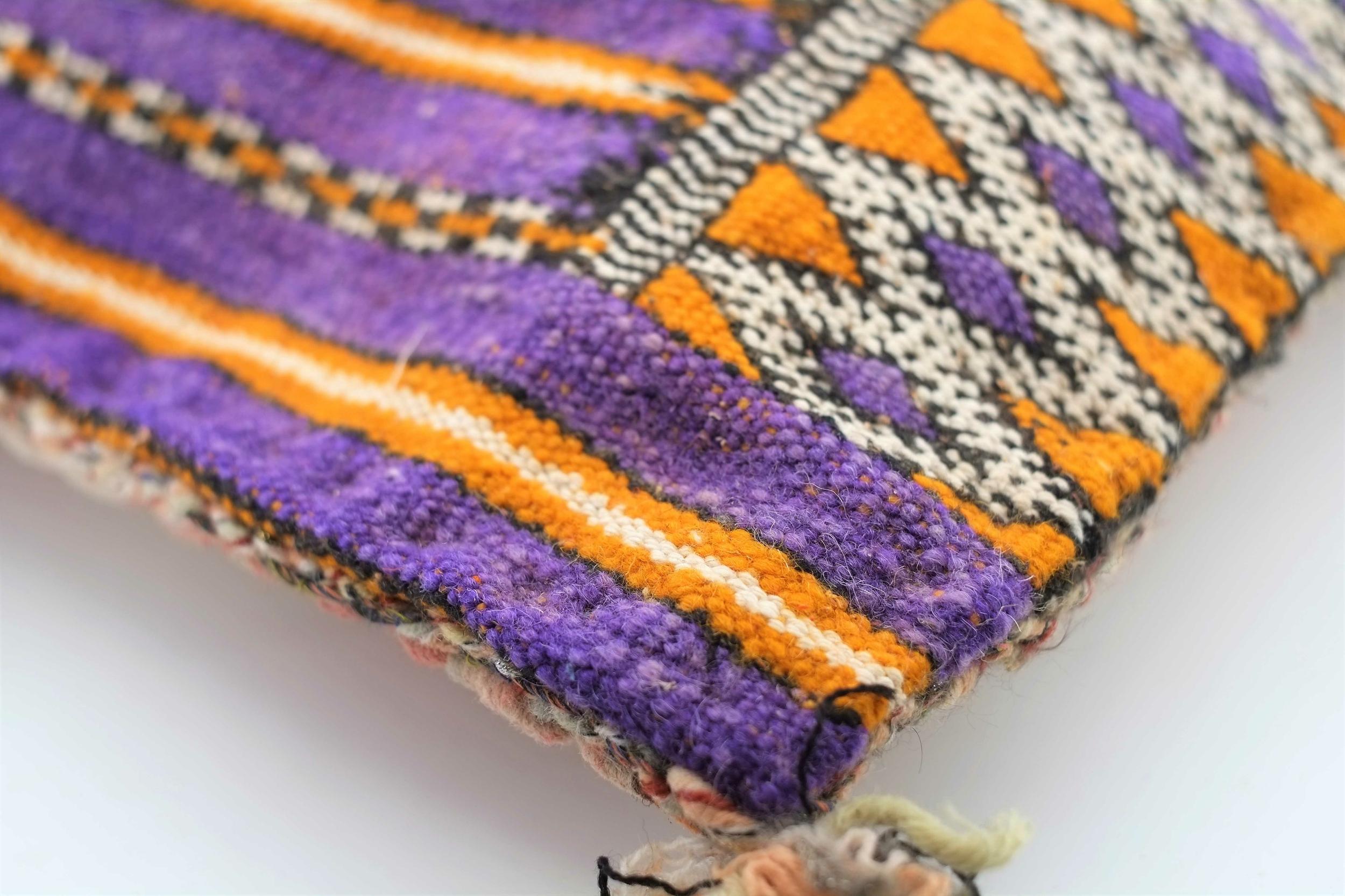 Housse de coussin en pure laine du Maroc