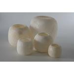 Photophores en albâtre blanc - 5 tailles