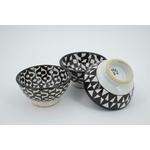 Ensemble de 3 bols noir & blanc