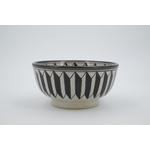 Saladier céramique graphique noir & blanc