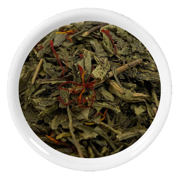 Thé vert aux pistils de safran