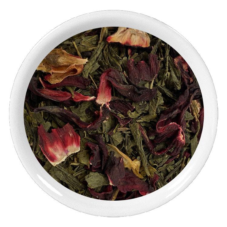 Thé vert aux fleurs d\'hibiscus