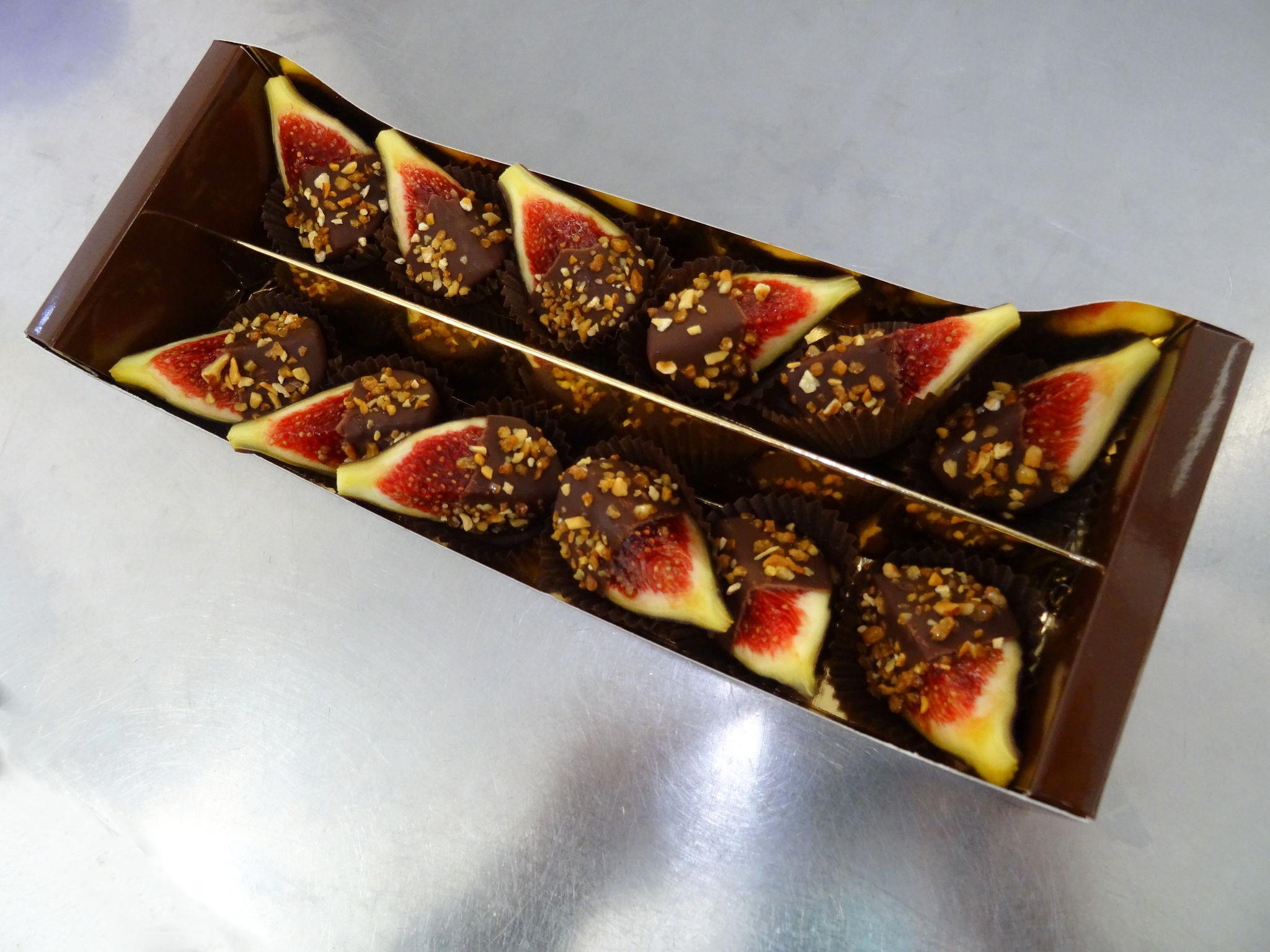 Réglette De 12 Figues En Chocolat
