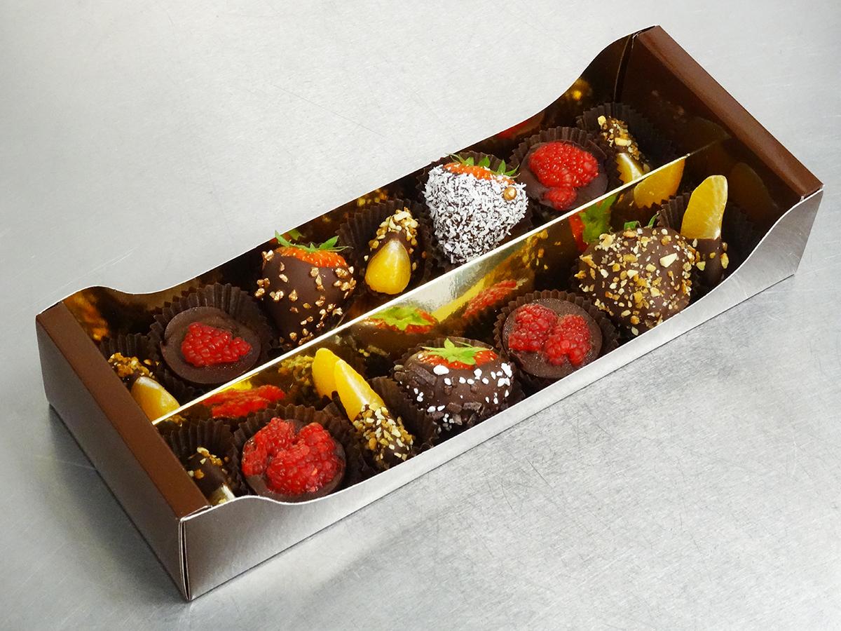 Réglette De 12 Fruits En Chocolat
