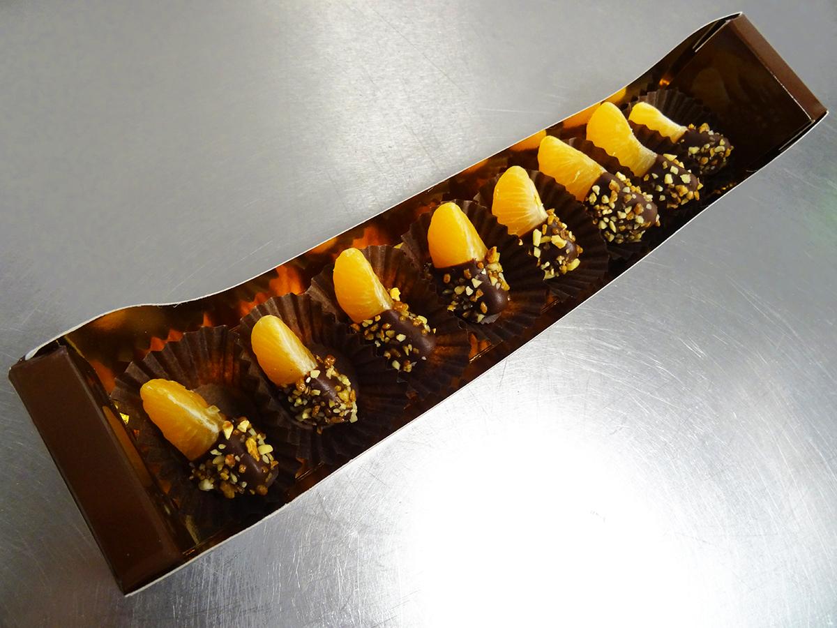 Réglette De 7 Clémentines En Chocolat VEGAN
